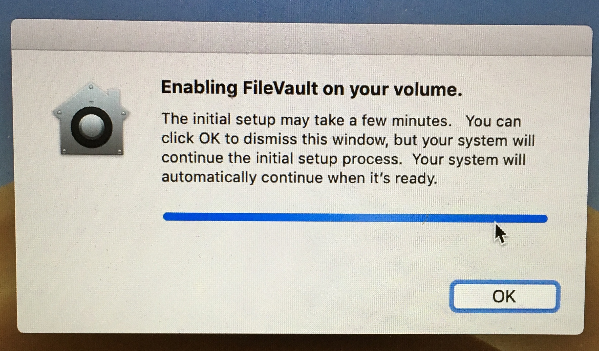 Enabling FileVault on your volume.