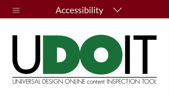 Screenshot: Accessibility. U Do IT. Universal Design content Inspection Tool.