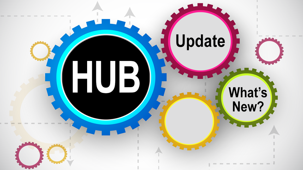 Illustration: Hub Update. What's New?