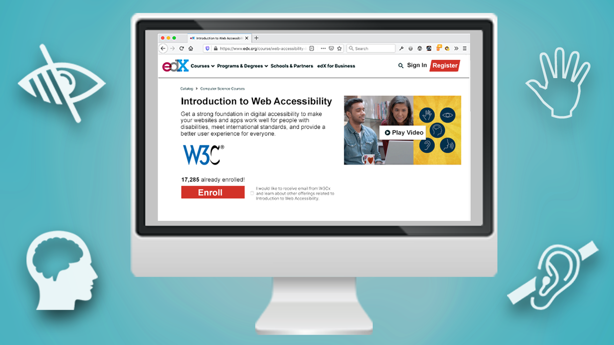 Illustration: edX Introduction to Web Accessibility Online Course